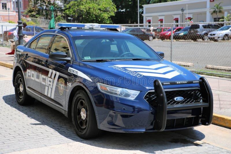 Veicolo di San Juan Puerto Rico Police fotografie stock libere da diritti