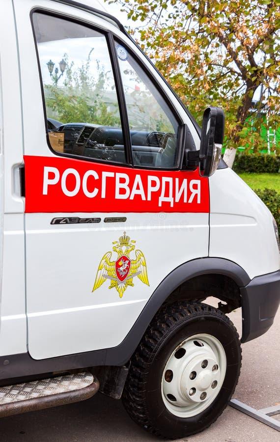 Veicolo speciale delle truppe della protezione nazionale del Russi immagini stock libere da diritti
