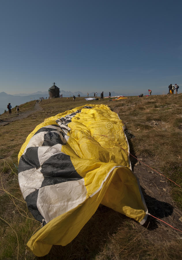 Download The Veil of a Paraglider stock image. Image of parachute - 18686857