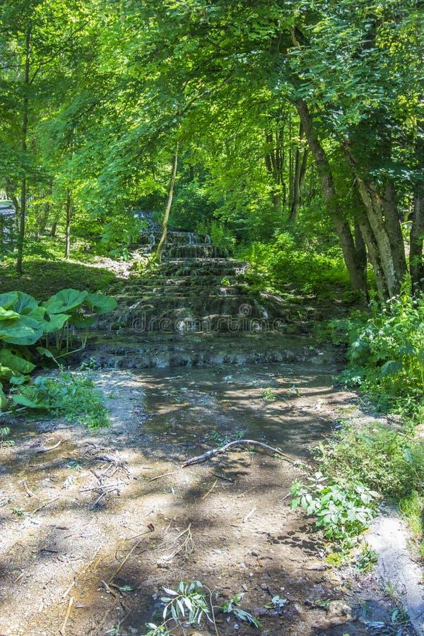 Veil waterfall. Szalajkavolgy, Hungary - Veil waterfall at Szilvasvarad royalty free stock photos