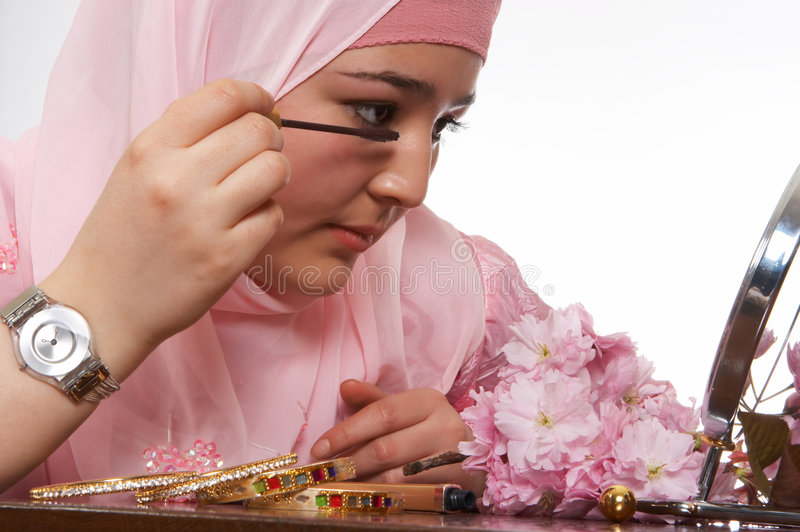 Download Veiled beauty stock photo. Image of make, faith, islamic - 2513892