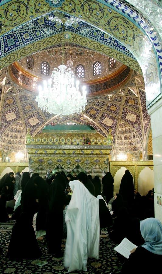 Veiled women in mosque stock photos