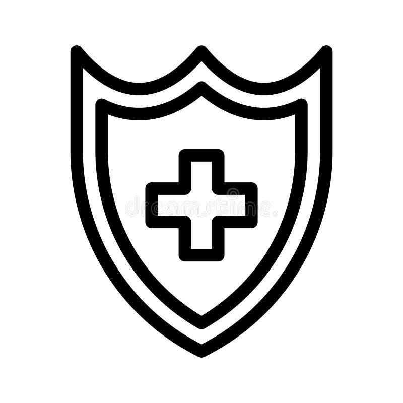 Veilig Dun Lijn Vectorpictogram stock illustratie