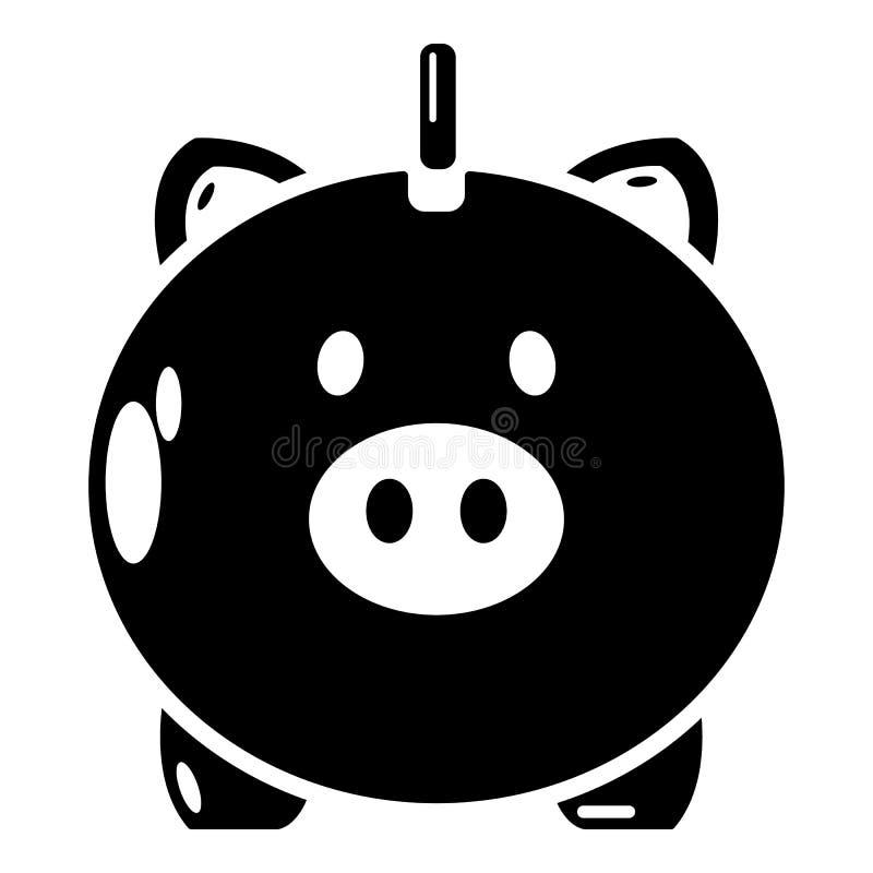 Download Veilig Geldpictogram, Eenvoudige Zwarte Stijl Vector Illustratie - Illustratie bestaande uit rekening, investering: 107707532