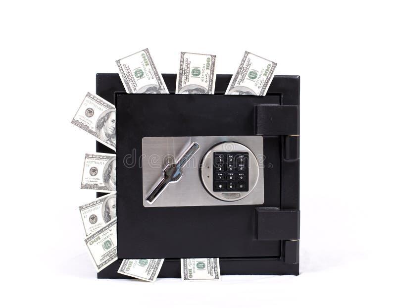 Veilig hoogtepunt van geld stock foto
