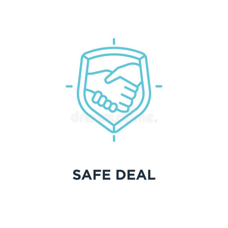 Veilig overeenkomstenpictogram het symboolontwerp van het vertrouwensconcept, vennootschap met Ha stock illustratie