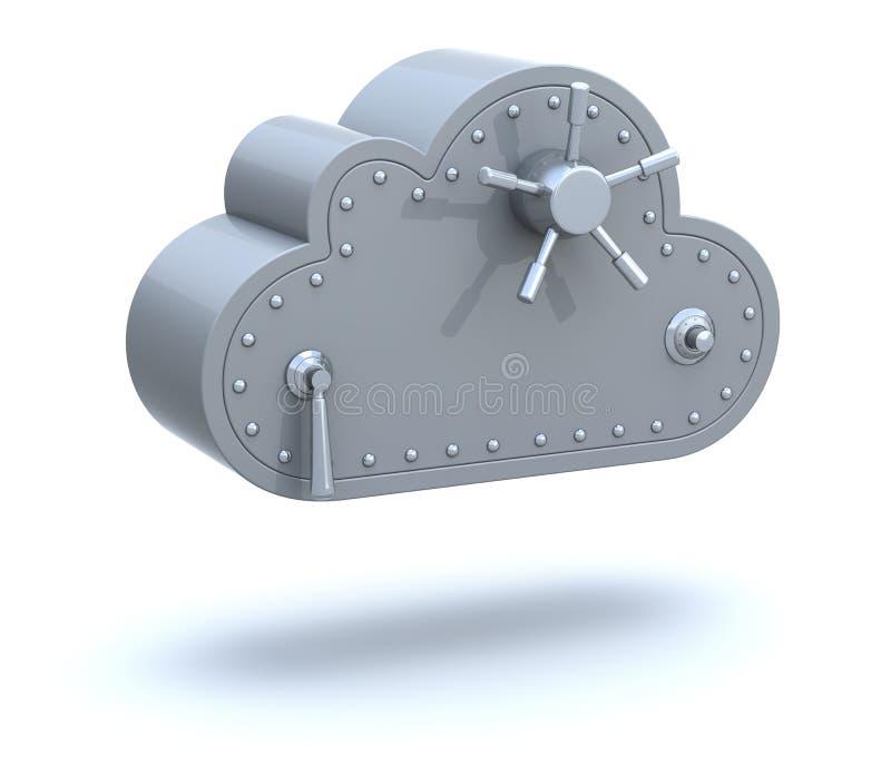 Veilig wolk gegevensverwerkingsconcept stock illustratie