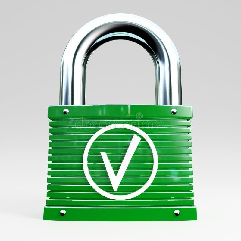 Veilige aansluting vector illustratie