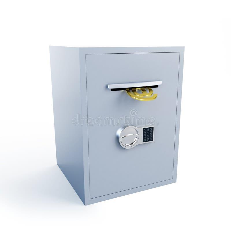 Veilige E-mail stock illustratie