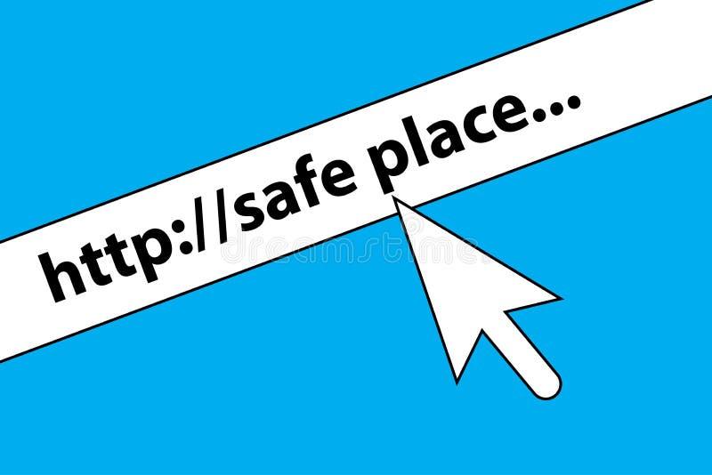 Veilige grafische plaats stock illustratie