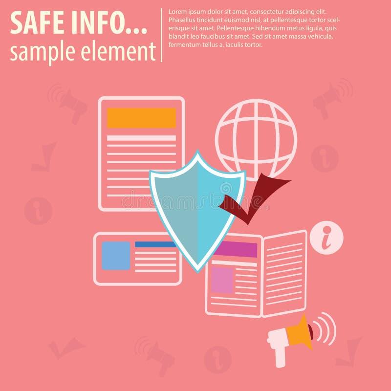 Veilige Nieuwsinformatie stock illustratie