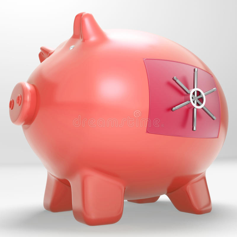 Veilige Piggy toont Beperkte ToestemmingsSpaarpot royalty-vrije illustratie
