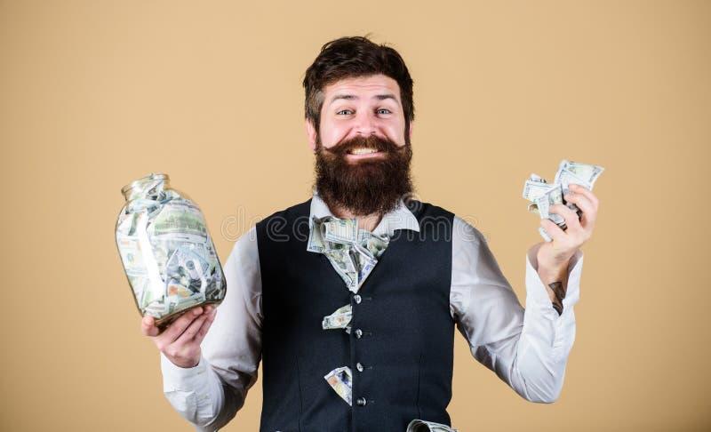 Veilige plaats om geld te houden Persoonlijke accountant Zakenman met zijn dollarbesparingen Rijkdom en welzijn Veiligheid en stock foto