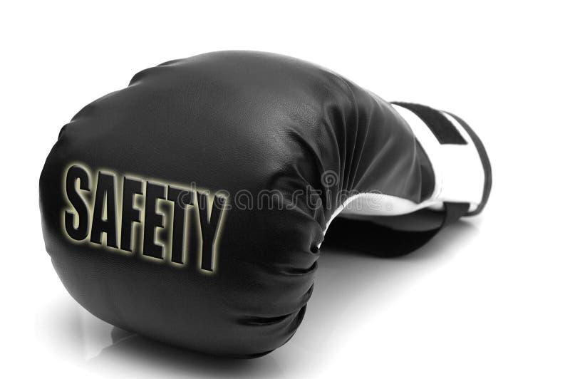Veiligheid - een bokshandschoen stock fotografie