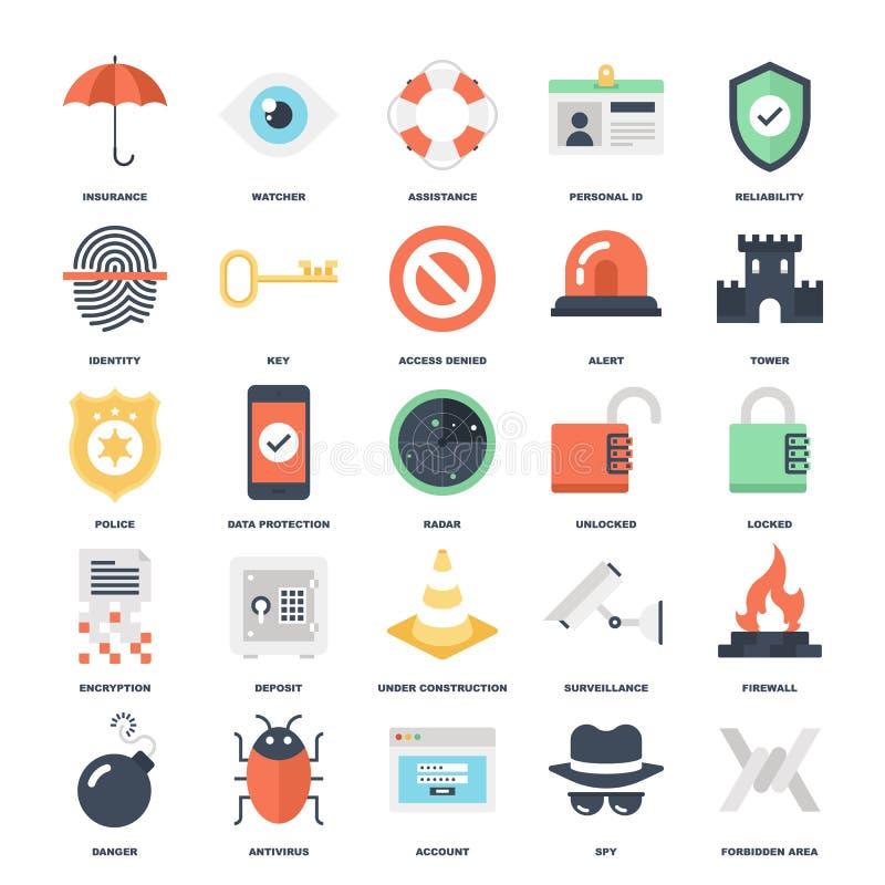 Veiligheid en bescherming vector illustratie