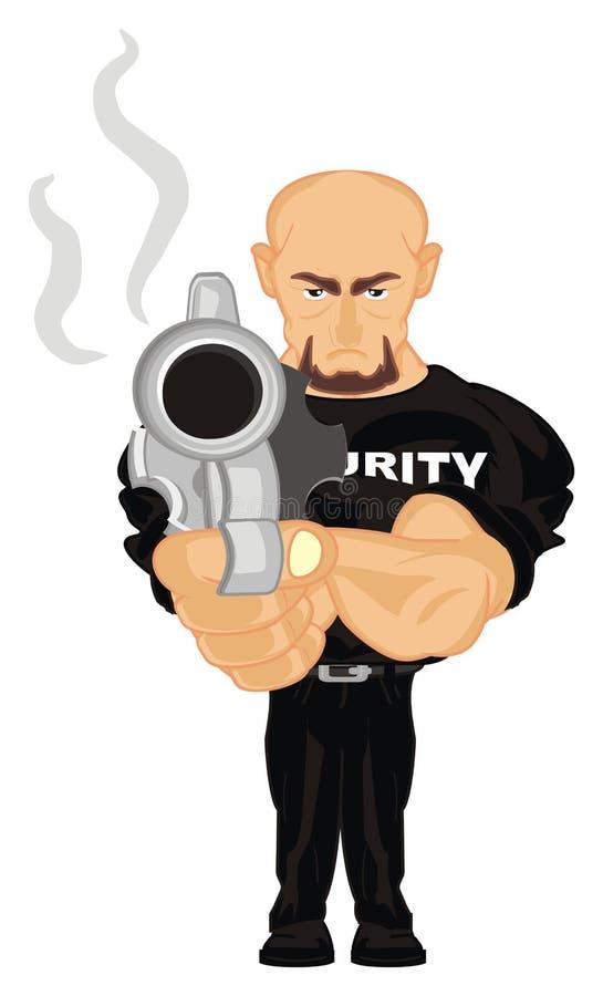Veiligheid en zijn kanon stock illustratie