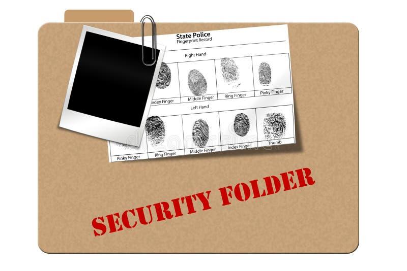 Veiligheid follder stock illustratie