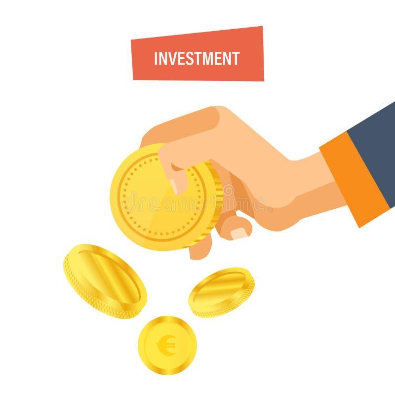Veiligheid van stortingen, waarborg van veiligheids financiële besparingen, strategisch beheer stock illustratie