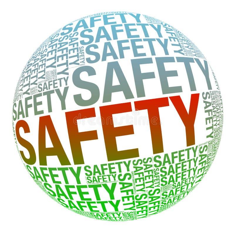 Veiligheid in woordcollage stock illustratie