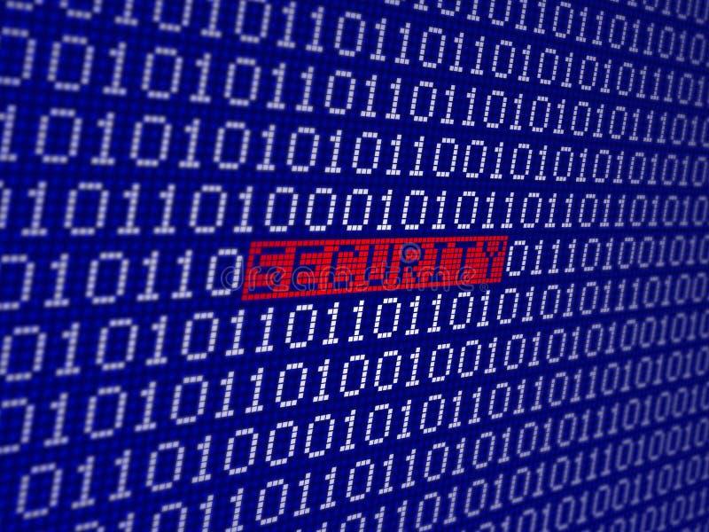 Veiligheids binaire code royalty-vrije illustratie