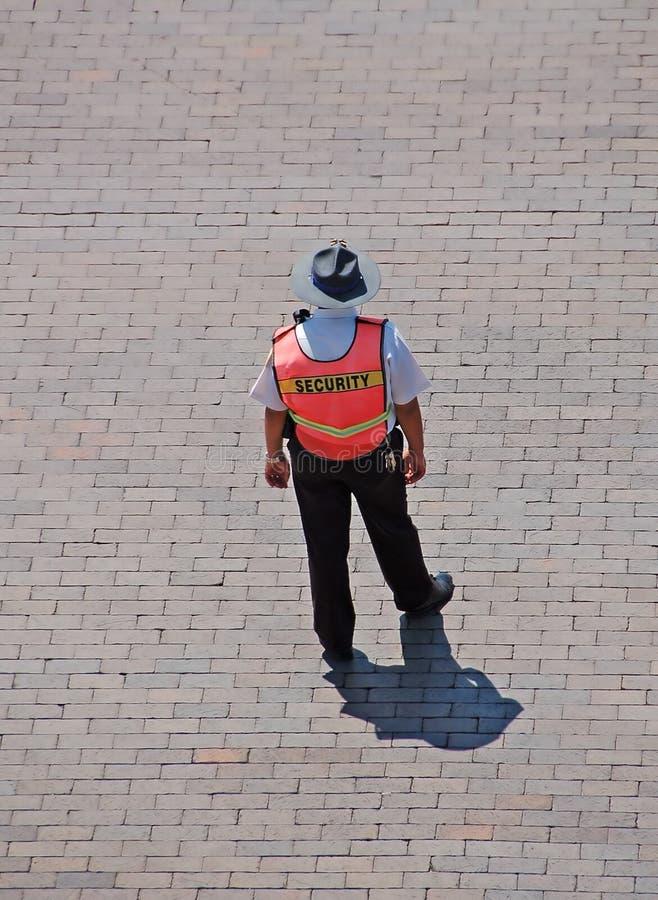 Veiligheidsagent die verkeer leidt royalty-vrije stock afbeeldingen
