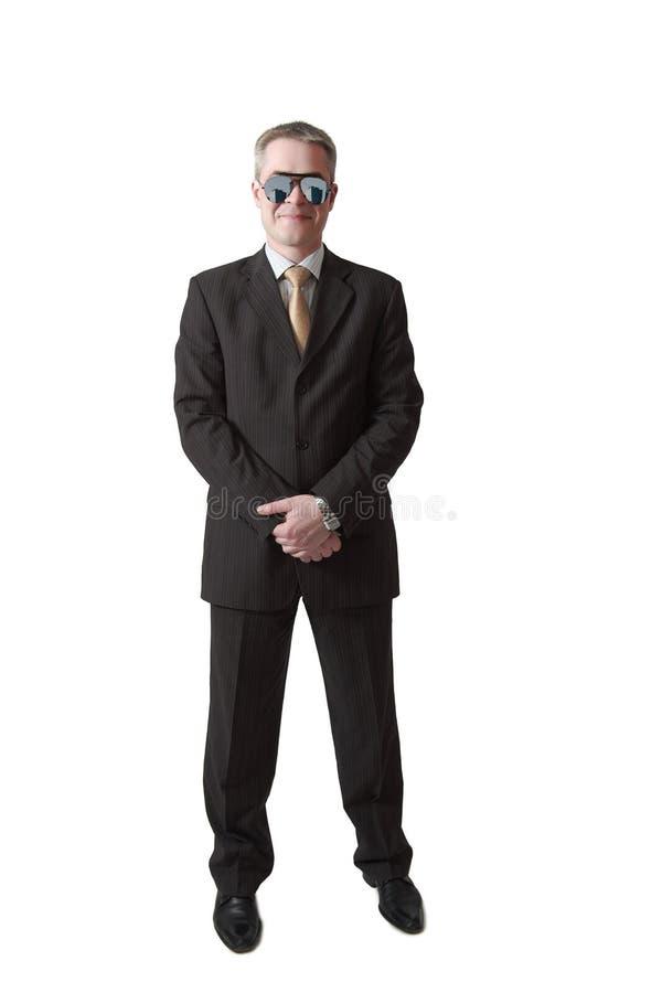 Veiligheidsagent in spiegelglazen royalty-vrije stock fotografie