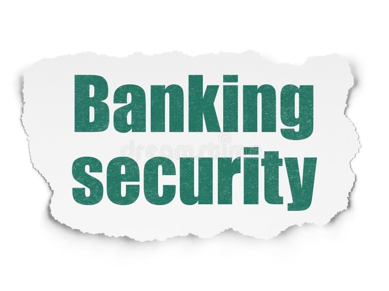 Veiligheidsconcept: Bankwezenveiligheid op Gescheurde Document achtergrond royalty-vrije illustratie