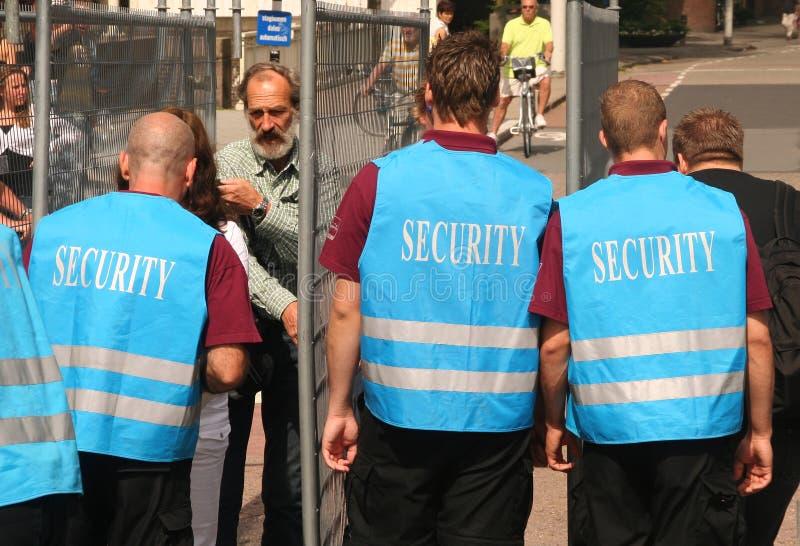 Veiligheidscontrole stock afbeelding