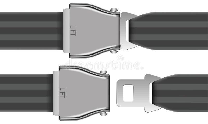 Veiligheidsgordel vector illustratie