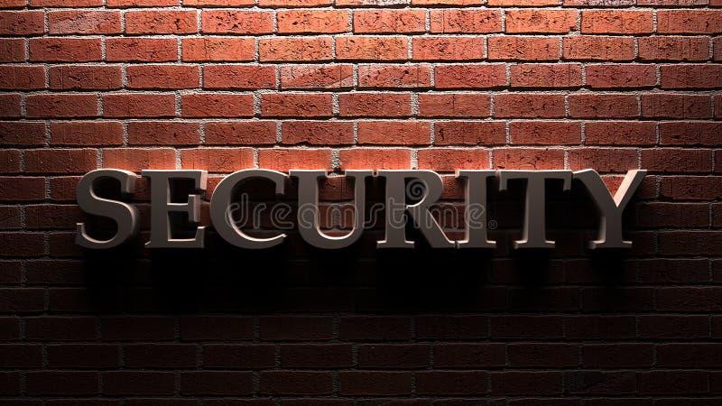 Veiligheidsmuur royalty-vrije stock afbeelding