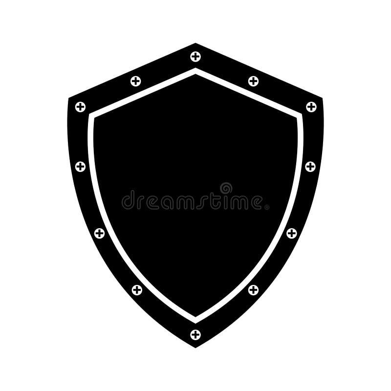 veiligheidsschild geïsoleerd pictogram royalty-vrije illustratie