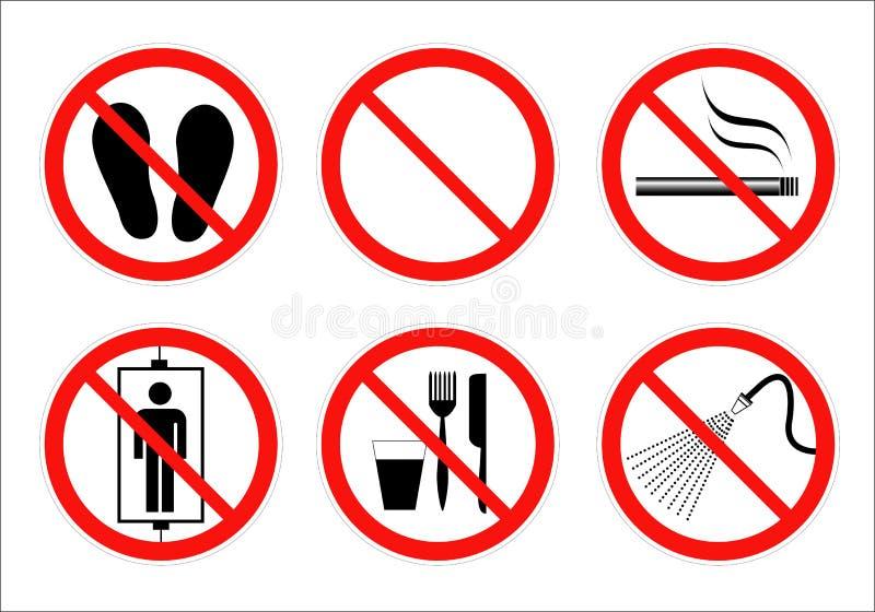 Veiligheidsteken vector illustratie