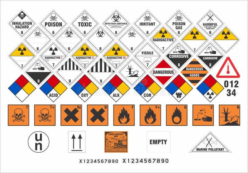 Veiligheidswaarschuwingsborden - Vervoertekens 3/3 - Vector royalty-vrije illustratie