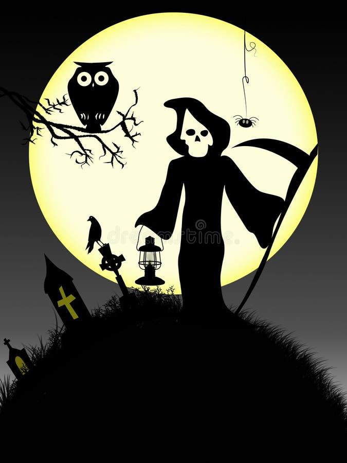 Veille de la toussaint fantasmagorique 3 illustration stock