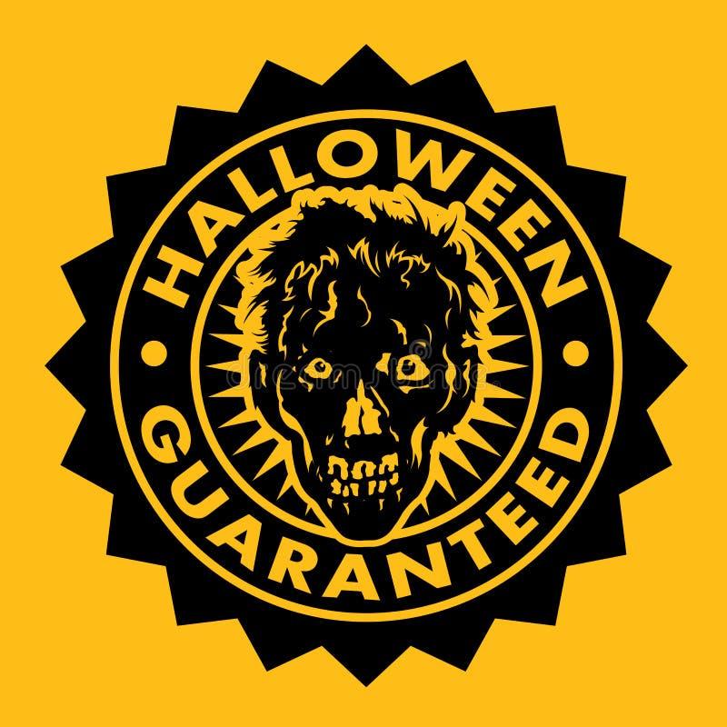 Veille de la toussaint a garanti le sceau de zombi illustration stock
