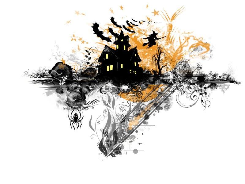Veille de la toussaint grunge illustration de vecteur