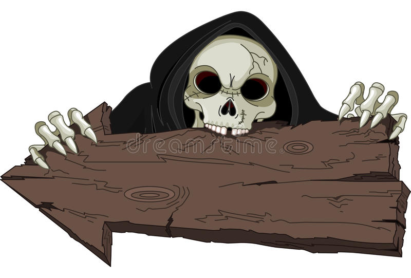Veille de la toussaint Reaper sinistre illustration de vecteur