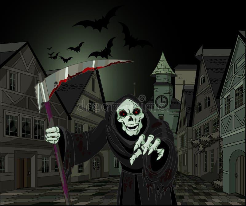 Veille de la toussaint Reaper sinistre illustration stock