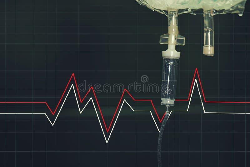 Vein syringe in the hospital stock photo