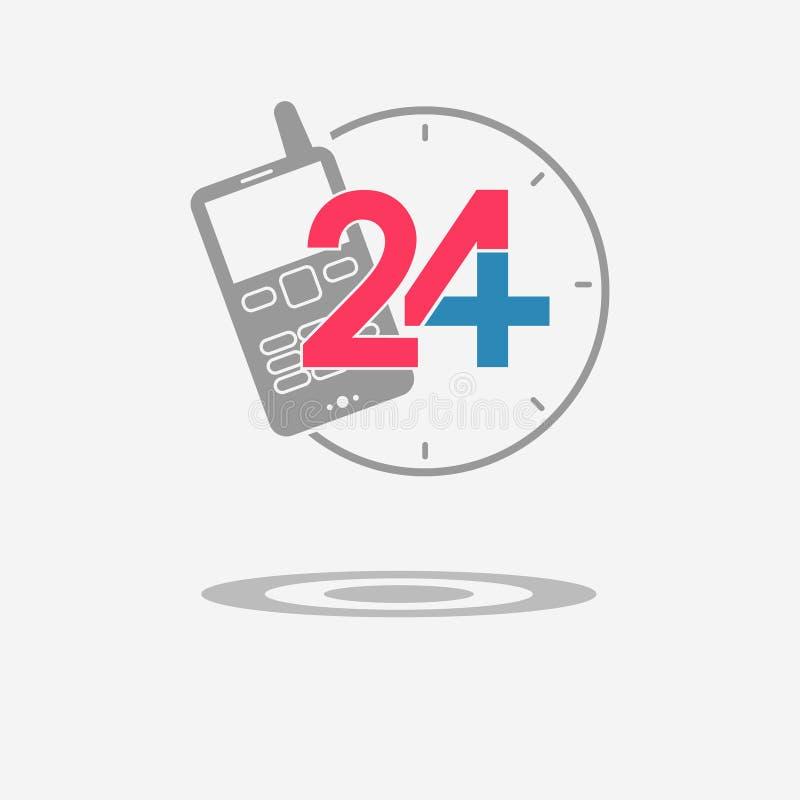Veinticuatro iconos médicos disponibles de la ayuda Telephon móvil imagen de archivo