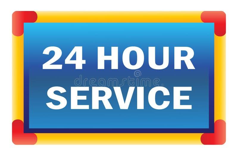 Veinticuatro servicios de la hora stock de ilustración