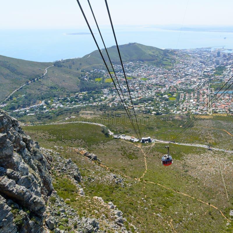 Veiw к острову Robben от столешницы Кейптауна стоковая фотография