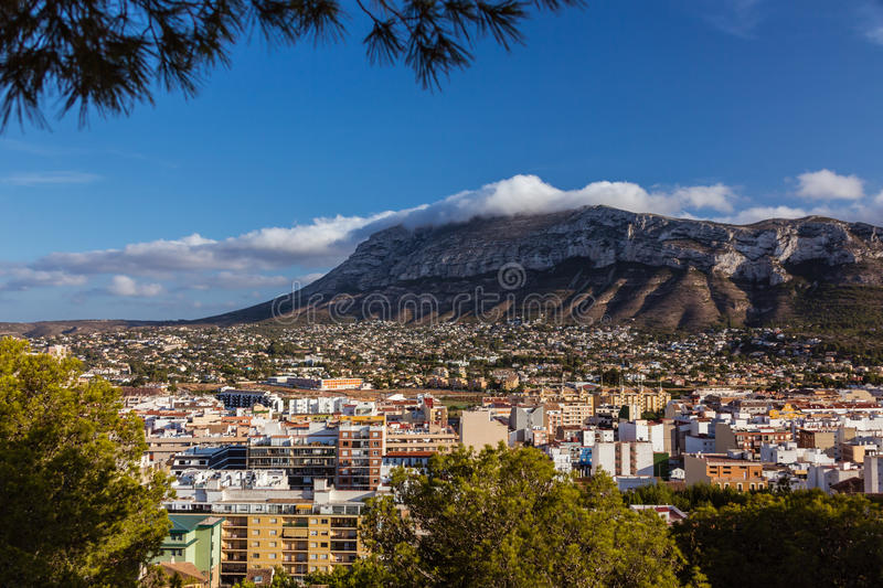 Download Veiw de Denia l'espagne image stock. Image du province - 45357037
