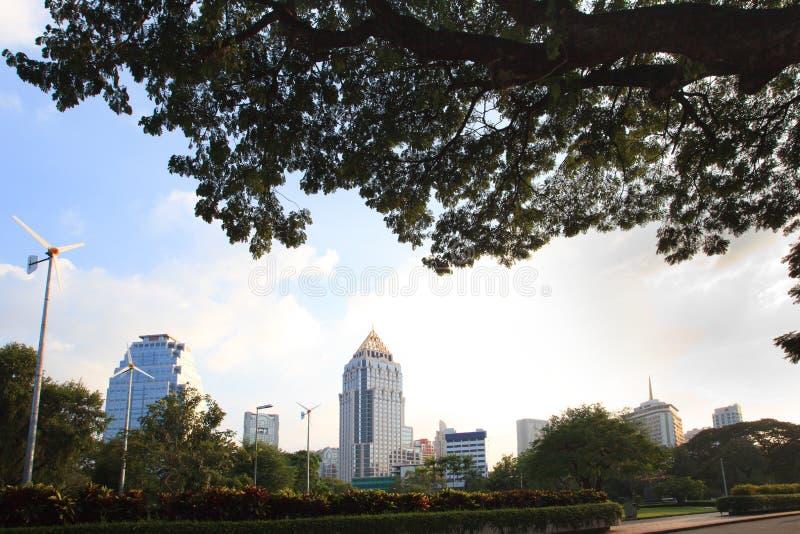 veiw för punkt för bangkok lunphinipark fotografering för bildbyråer