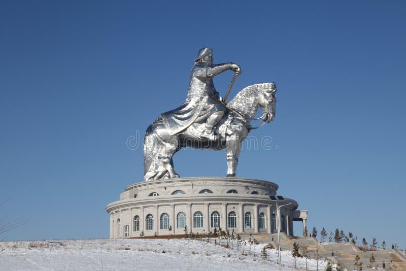 Genghis Khan monument in Ulaanbaator, Mongolia royalty free stock images