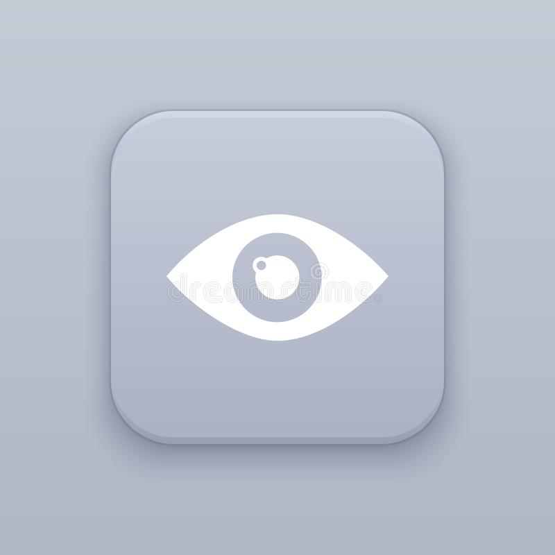 Veja, botão do olho, o melhor vetor ilustração do vetor