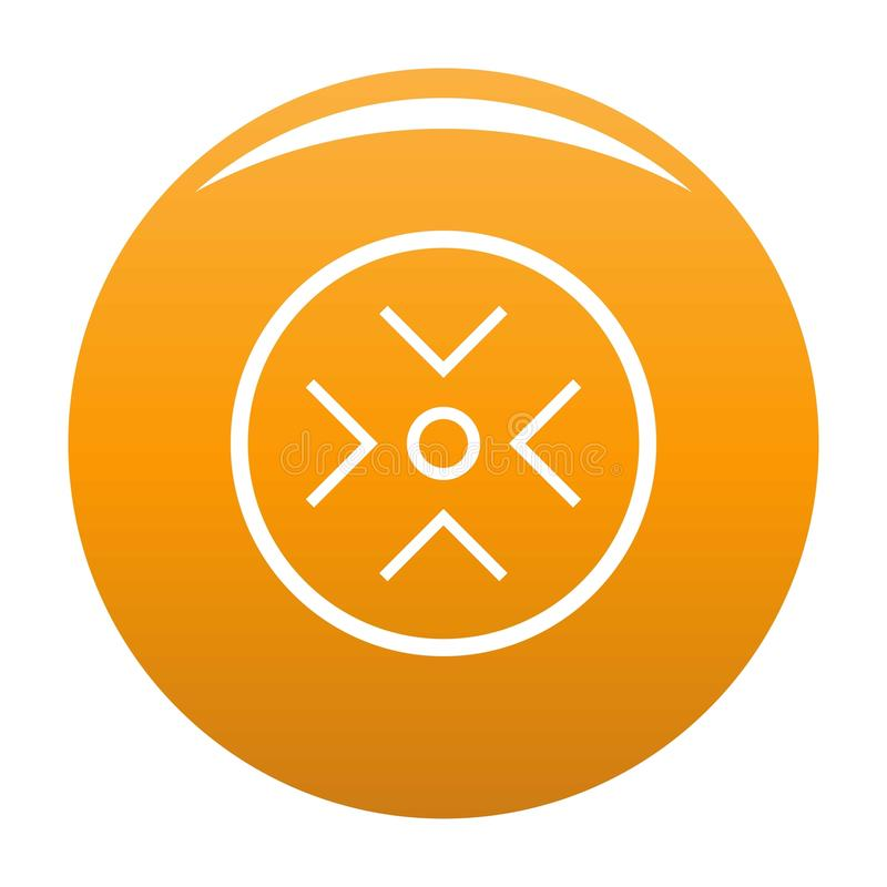 Veja a laranja do ícone do radar ilustração do vetor