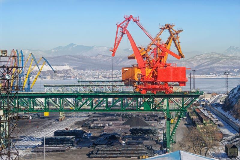 Veja no porto de troca fotos de stock