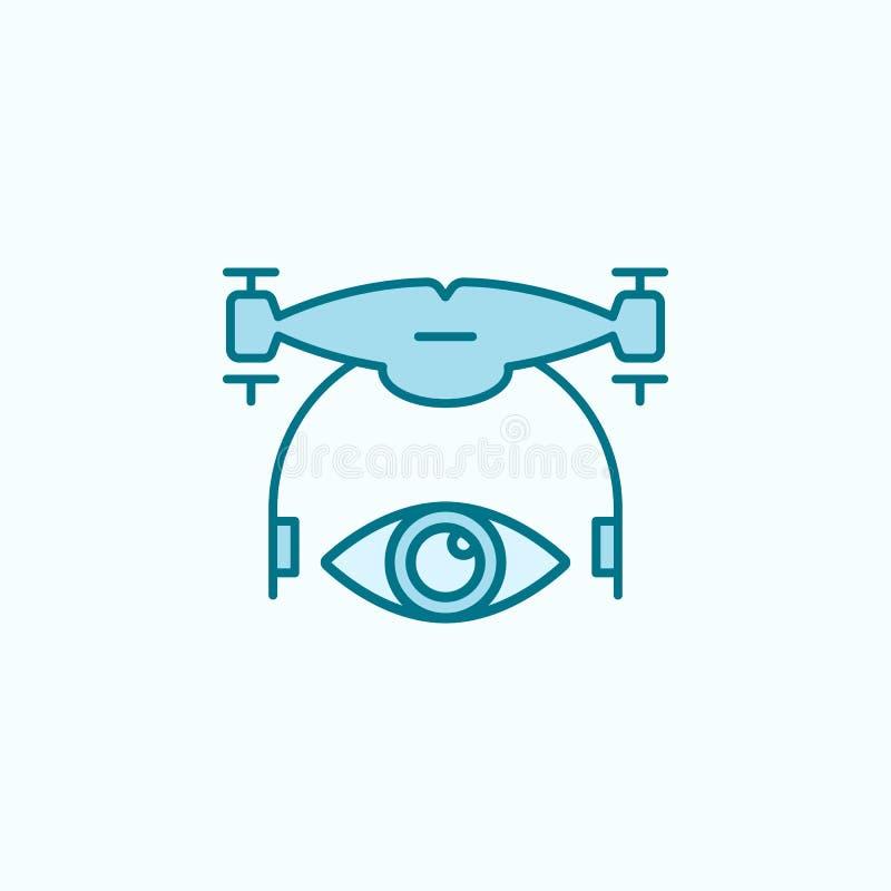 veja o ícone do esboço do campo do zangão ilustração royalty free