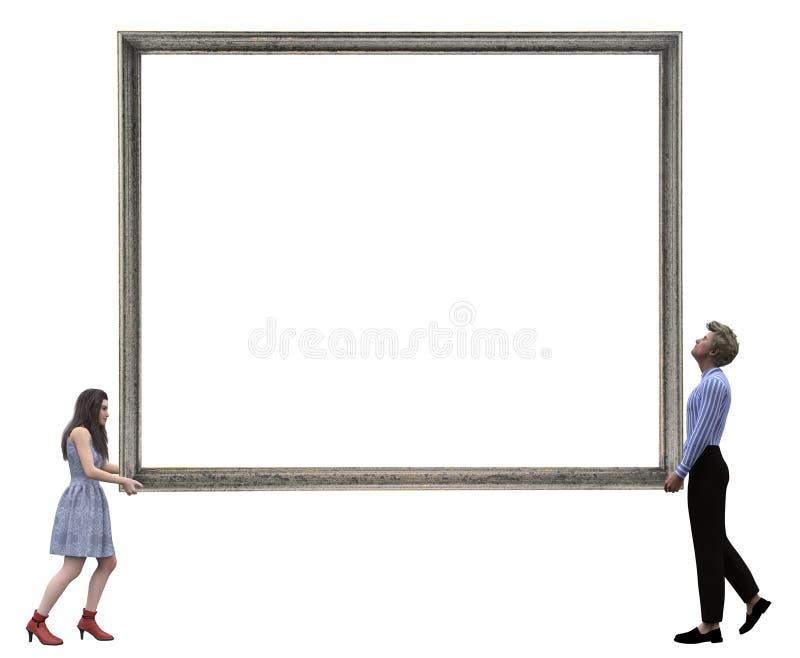 Veja o conceito grande da imagem com espaço satisfeito fotografia de stock